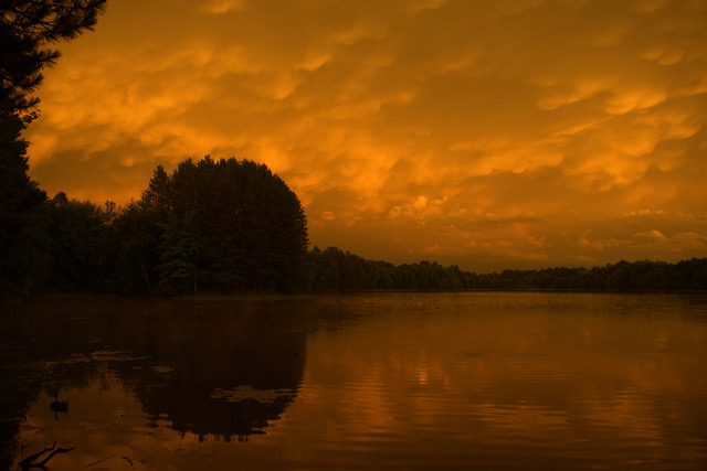 A storm gathers over a lake in the Chequamegon-Nicolet National Forest near Medford.   Photo: Will Vuyk
