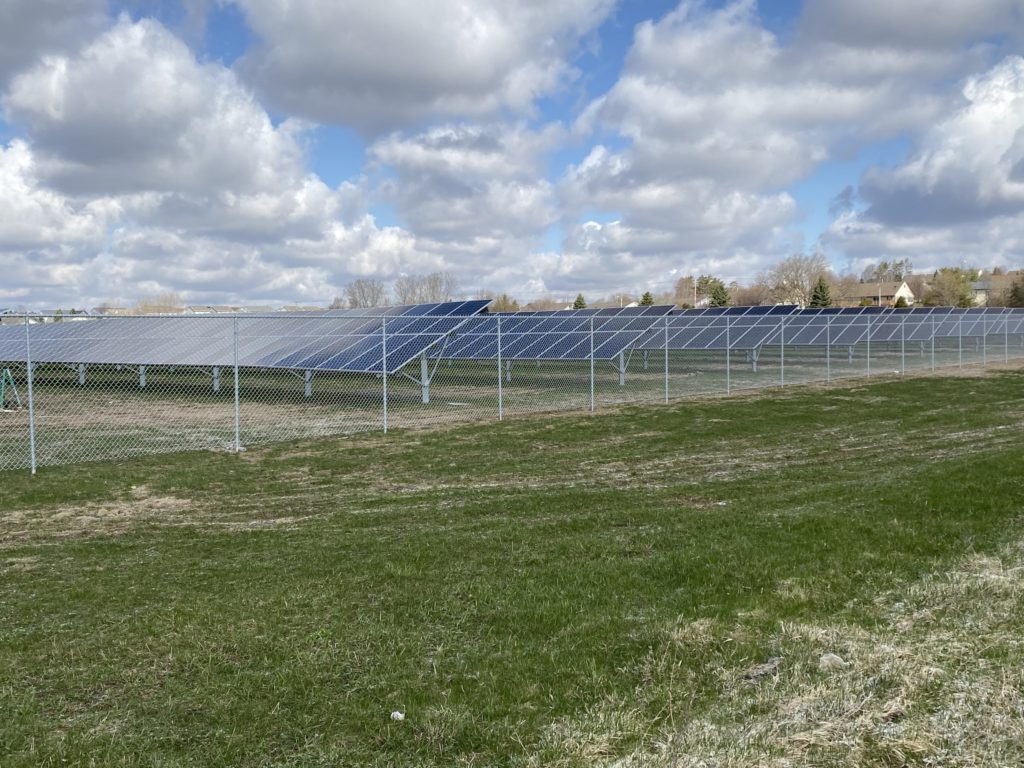 WE Energies Solar Installation Photo by Don Behm