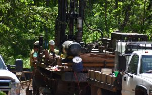 Drilling for Enbridge Pipeline construction project in northern Wisconsin
