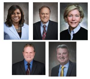 Senators Johnson, Cowles, Bewley, DNR Assistant Deputy Secretary Ambs, and Representative Kitchens