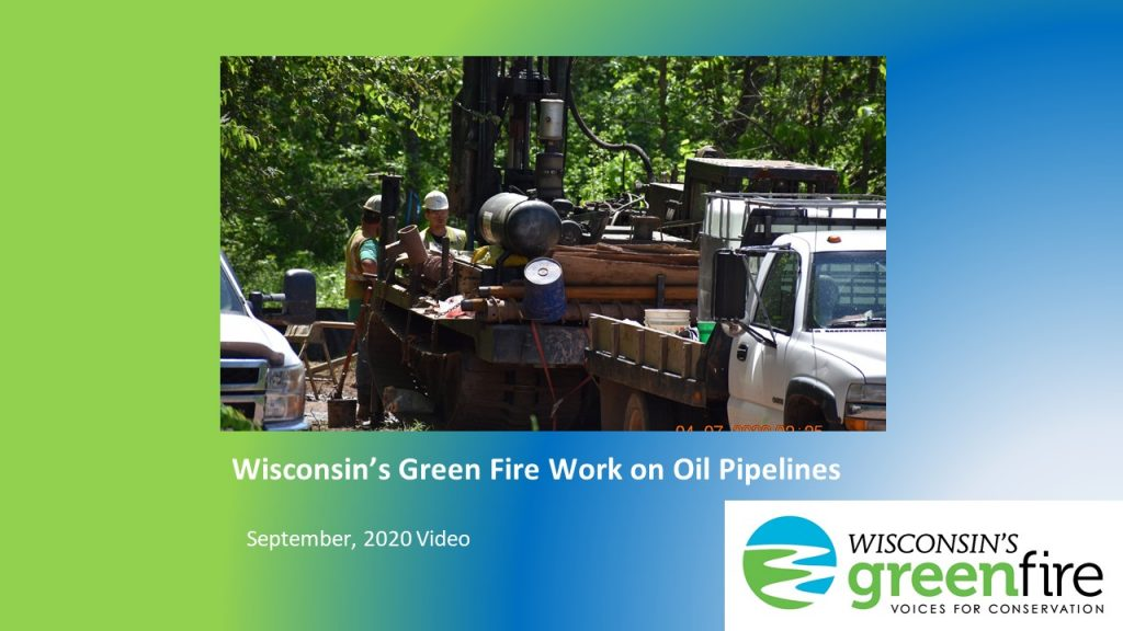 Oil pipelines in Wisconsin: WGF Work