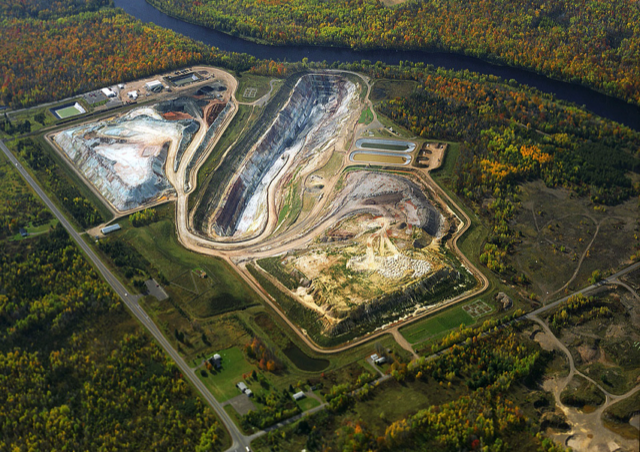 Ariel view of the Flambeau Mine in Lady Smith when it was in operation.