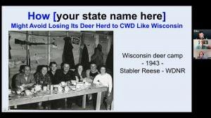 Title slide of CWD presentation